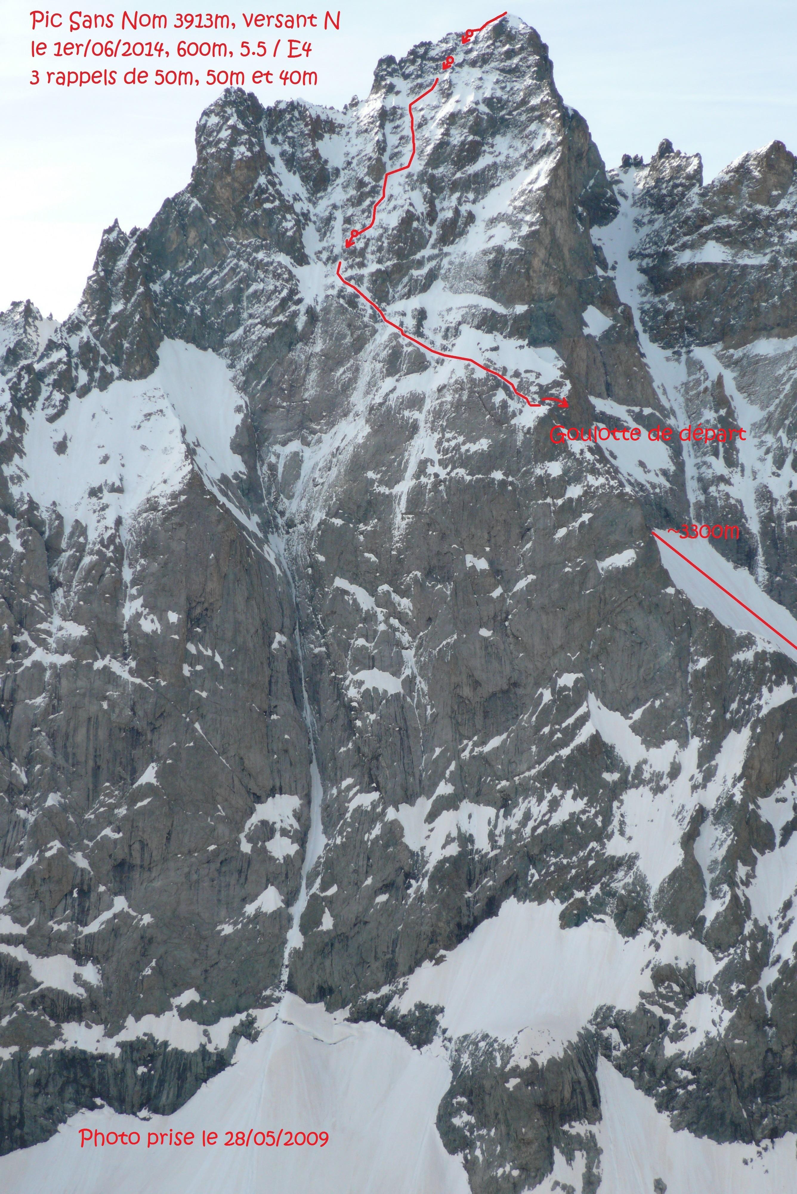 la face nord du pic sans nom  u00e0 skis - courses
